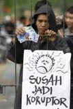HOT FÖR INDONESIEN ANTI-KORRUPTIONKRIG Royaltyfria Bilder