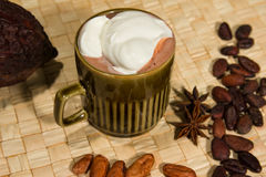 Hot fairtrade cocoa. With background Stock Photography