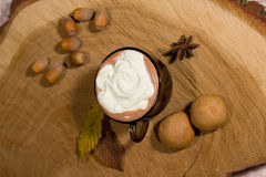Hot fairtrade cocoa Stock Images