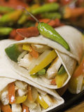 Hot fajitas chicken royalty free stock photo