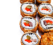 Hot fan sushi roll with tune Royalty Free Stock Images