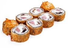 Hot fan sushi roll with tune Stock Image