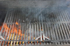 Hot fiery barbecue grill Royalty Free Stock Photography