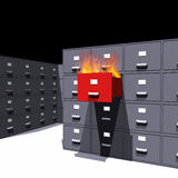 Hot files in a cabinet - 3D Royalty Free Stock Images