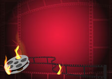 Hot film background Royalty Free Stock Image