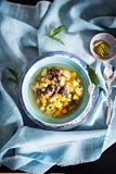Finnish meat and potatoes soup stock images