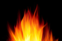Hot fire Stock Photography