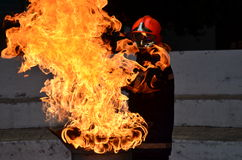 Hot fire. Fire burning fiercely and hot Stock Photos