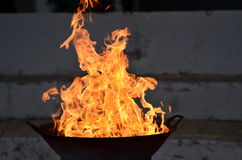 Hot fire. Fire burning fiercely and hot Stock Image