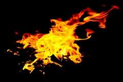hot fire Zdjęcia Royalty Free
