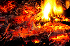 Hot fire abstract Royalty Free Stock Photography