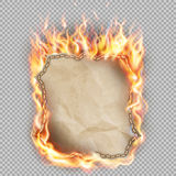 Hot fire banner. EPS 10 Royalty Free Stock Photo