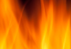 Hot fire burning Stock Images