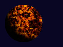 Hot fire comet on blue space backgrounds Stock Photos