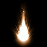 Hot fire explosion. 2d illustration of a hot fire explosion Royalty Free Stock Photos