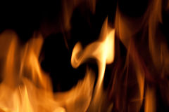 Hot Fire Flames Stock Photo