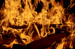 Hot fire place Royalty Free Stock Image
