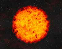 Hot fire planet on space stars backgrounds Royalty Free Stock Photo