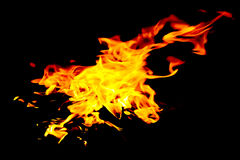 Hot fire. Hot power with yellow fire Royalty Free Stock Photos