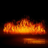 Hot fire. Vector realistic elements set for design. EPS 10 Stock Images