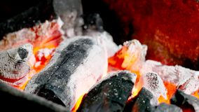 Hot fire from wood royalty free stock photos