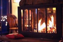 Hot Fireplace Stock Photo