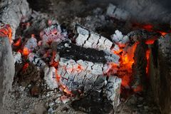 hot fireplace texture Royalty Free Stock Photos
