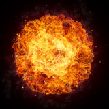Hot fires flames in round shape Stock Photography