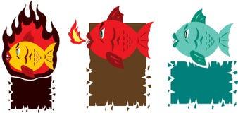 Hot fish cartoon Royalty Free Stock Photo