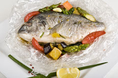 Hot fish dish Royalty Free Stock Images
