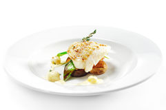 Hot Fish Dishes - Halibut fillet Stock Photo