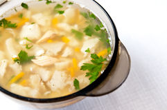 Hot fish soup Royalty Free Stock Image