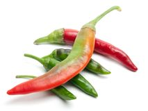 Hot five chili Royalty Free Stock Images