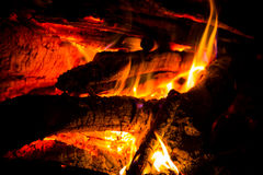 Hot flame of fire Stock Photography