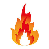 Hot flame spurts fire design. Vector illustration eps 10 Royalty Free Stock Photography