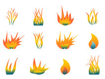 Hot flames Royalty Free Stock Photo