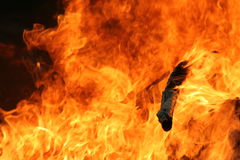 Hot Flames. Roaring flames Royalty Free Stock Photo