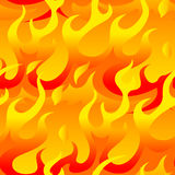 Hot flames in a seamless pattern Stock Photography