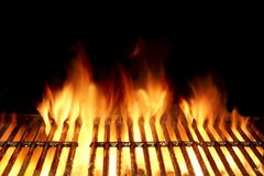 Hot Flaming Charcoal Grill Royalty Free Stock Image