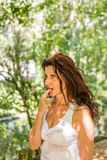 Hot flashes and sweat Royalty Free Stock Photography