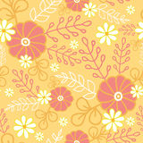 Hot flowers seamless pattern background Stock Photos