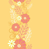 Hot flowers vertical seamless pattern background Stock Images