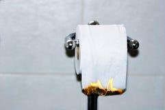 Hot Food. A toilet roll burning illustrating hot food royalty free stock image