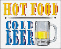 Hot Food Cold Beer Poster Royalty Free Stock Photography