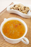Hot foods (soup, stew chicken) Stock Photos