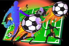 Hot football game Stock Images