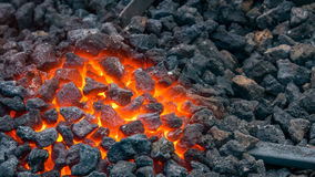 Hot forge used by blacksmiths Stock Photography