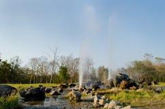 Hot fountain in Chiangmai, Thailand. Royalty Free Stock Photography
