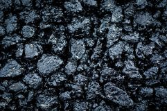 Hot fresh asphalt Stock Image