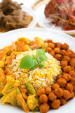 Hot fresh biryani rice Stock Images